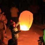 Animation micro et lachee de lanterne chinoise